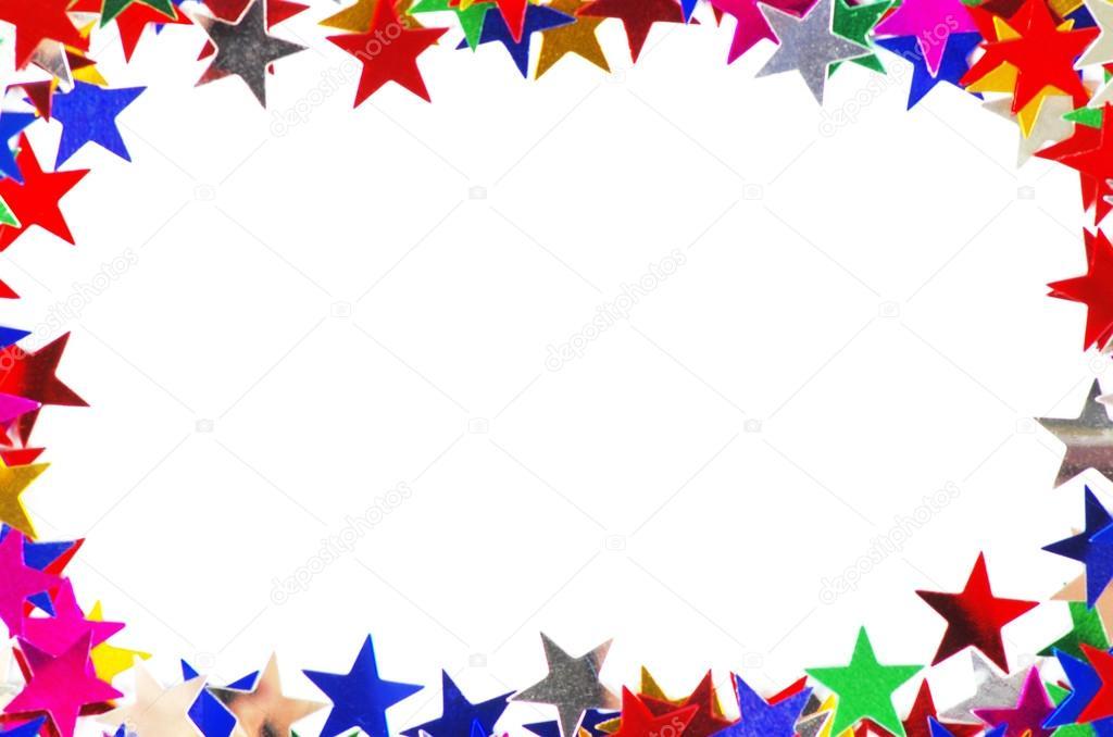 Estrela Em Forma De Confetes De Molduras De Cores
