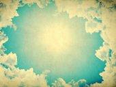 Niebo w stylu retro — Zdjęcie stockowe