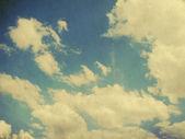 Ретро пасмурное небо — Стоковое фото