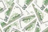 Fifty dollar bills background — Photo