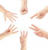 Liczenie ręce człowieka — Zdjęcie stockowe