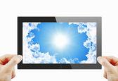 Schwarze generische tabletpc — Stockfoto