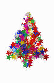 Christmas tree and stars — Stock Photo