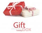 礼品盒上孤立 — 图库照片