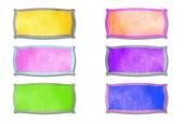 Colorful empty tag — Zdjęcie stockowe