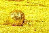 Christmas ball on golden — Foto Stock