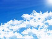 Blue sky background — Stock Photo