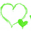 Painted green hearts — Stock Photo #55450981