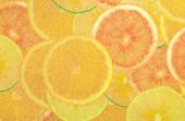 Abstract gold fruite — Stock Photo