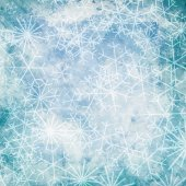 Christmas background with snowflakes — Stock Photo