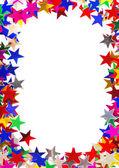 Star shaped confetti frame — Stock Photo