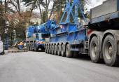 Camion gru pesanti — Foto Stock