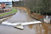 Weir on river — Stock Photo