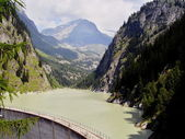 Alps river landscape — Stock Photo
