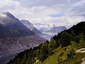 Aletsch glacier — Stock Photo