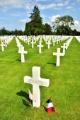 War cemetery in normandy — Stock Photo