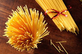 Spaghetti on the table top view — Stock Photo