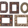 Ornamental metal picture frames pack — Stock Photo #64573895