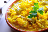 Broth rice with green beans — Foto de Stock