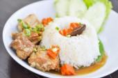 Pork stewed  — Stock Photo