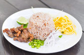 Fried rice with shrimp paste — Stock Photo