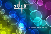 2015 new year background, invitation, flying bubbles — Stock Photo