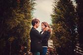 Sensual outdoor portrait — Stock Photo