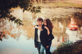 A happy young couple — Stock fotografie