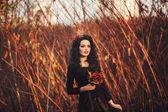 Romántico retrato de una muchacha — Foto de Stock