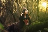 Romantic brunette posing — Stock Photo