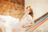 Portrait of a pregnant model — Stok fotoğraf