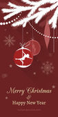 Pole dance Christmas Cards — Stockvektor