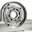 Mounted roller bearing unit. CNC milling lathe and drilling indu — Stock Photo #64688323