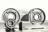 Mounted roller bearing unit. Mechanical engineering. — Stock Photo