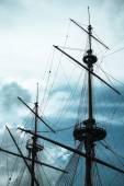 Eski gemi batık gemi direği vintage — Stok fotoğraf