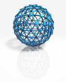 3d abstract blue ball modern technology concept background — Stock Photo