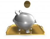 Saving money financial concept illustration with piggy bank — Stock Photo