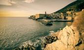 Nervi, Genova beautiful scene retro revival. — Stock Photo