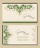 Vintage greeting cards floral motifs. — Stock vektor