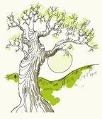 Ilustração em vetor mão desenhada árvore símbolo isolado — Vetor de Stock
