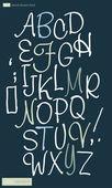 Vector illustration of cursive alphabet. — Stock Vector
