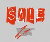 Hand lettering sale in the frame. Vector illustration — Stockvektor