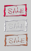 Hand lettering sale in the frame. Vector illustration — Vetorial Stock