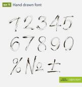 Vector handwritten arabic numerals set — Stock Vector