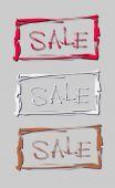 Hand-Schriftzug-Verkauf im Rahmen. Vektor-illustration — Stockvektor