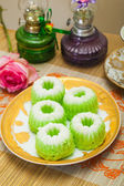 Indonesian Food Putu Putri Ayu Pandan Suji — Stock Photo