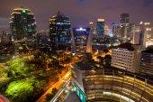 Nightshot city of Jakarta Indonesia Asia — Stock Photo