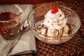 Hot Fudge Sundae — Stock Photo