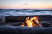 Bonfire Beach — Stock Photo