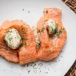 Crab Stuffed Salmon — Stock Photo #66851843